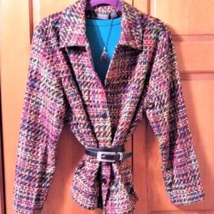Chico's Design Sweater Knit Blazer - Size 3 (XL)